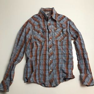 True Religion Casual Button Down Long Sleeve Med